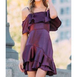 Francesca's NWT Satin Dress